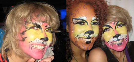 Photo of Ekaterina Ivanova With Cat Makeup. Rolling Stone's Ronnie Wood's Girlfriend. Love or Hate Her Halloween Look?