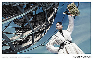 Eva Herzigova, Louis Vuitton Unite In Front of Unisphere
