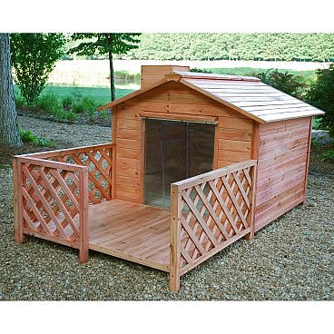Two Dog Mansion Dog House - Dog Houses at Dog Houses