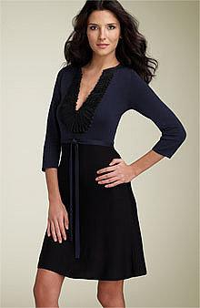 BCBGMAXAZRIA Ruffle Trim Sweater Dress -  - Nordstrom