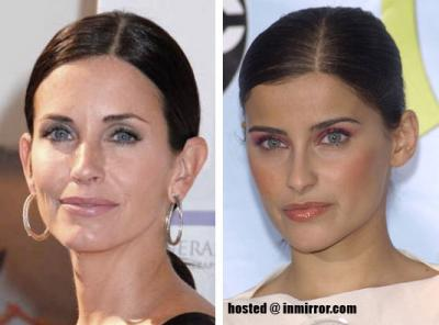 Courteney Cox and Nelly Furtado -- Separated at Birth?