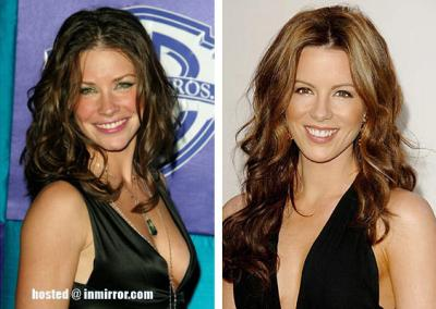 Evangeline Lilly and Kate Beckinsale -- Separated at Birth?