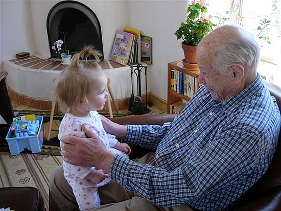 Grandpa and me had a little heart to heart