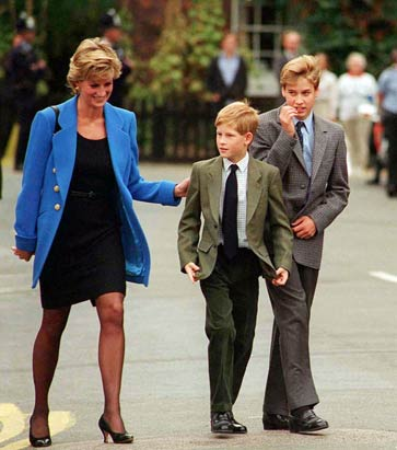 Princess Diana, William & Harry
