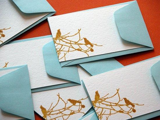 The Card Shop: Screen-Printed Bird Enclosure Cards