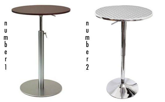 Less or More: Adjustable Bar Tables
