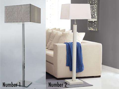 Less or More: Rectangular Floor Lamps