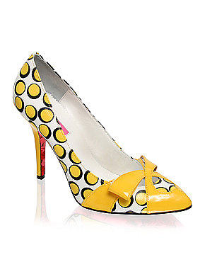 Betsey Johnson | Betsey Johnson Spotty Bow Front Court Shoe at ASOS