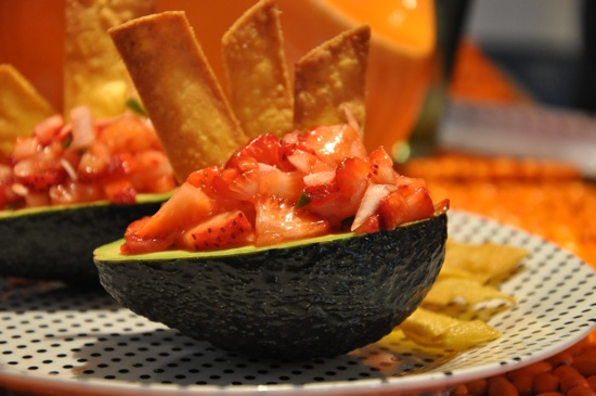 Avocado with Strawberry Salsa