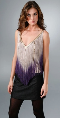 The Look For Less: Foley + Corinna Ombre Fringe Top