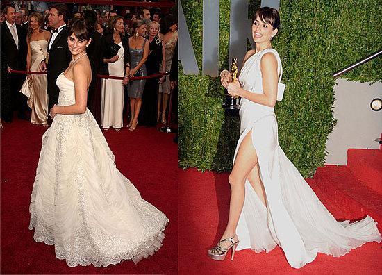 Penelope Cruz's Ivory Oscars Gowns