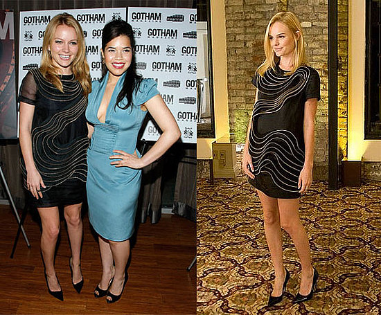 Becki Newton and Kate Bosworth Wear Phillip Lim's Black and Gold Zipper Dress