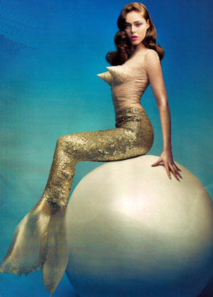 Coco Rocha In Vogue Wearing Mermaid Costume