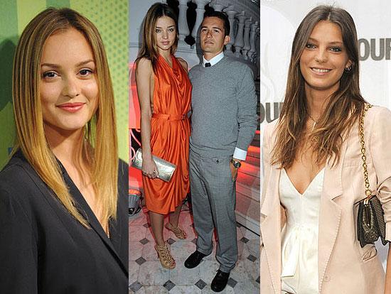 Photos of Leighton Meester, Miranda Kerr, Orlando Bloom, and Daria Werbory