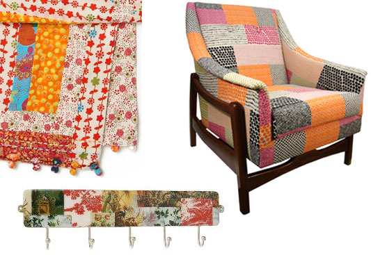 Patchwork Quilt-Inspired Chairs and Other Homewares