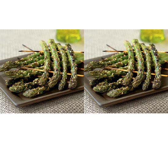 Grilled Asparagus Rafts