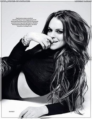 Lindsay Lohan - Elle UK August 2009