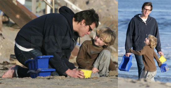 Photos of Jim Carrey and Evan Asher at the Beach in Malibu