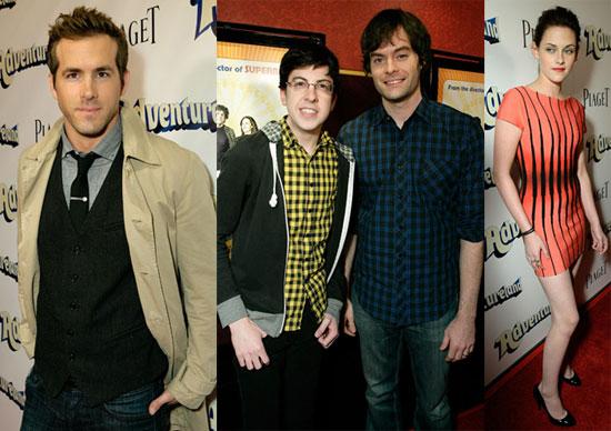 Photos of Kristen Stewart, Ryan Reynolds, Christopher Mintz-Plasse, Bill Heder at LA Premiere of Adventureland