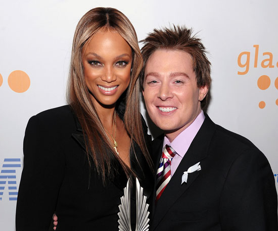 Photo of Tyra Banks and Clay Aiken at GLAAD Awards in NYC