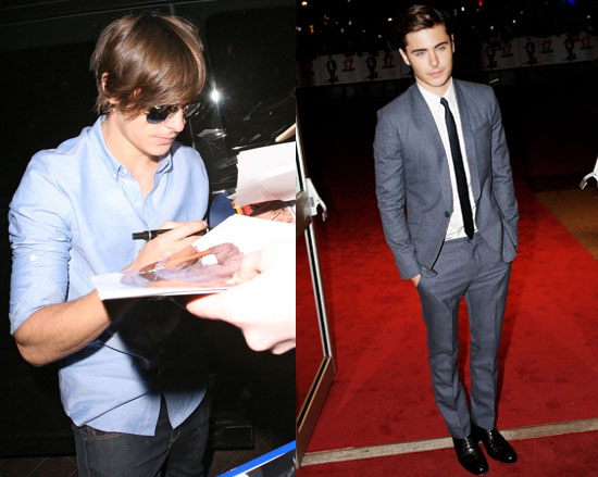 Photos of Zac Efron at the London Premiere of 17 Again