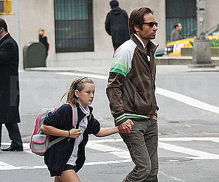Photo of David and Madelaine Duchovy Out in NYC Together After School