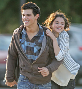 Photo of Taylor Lautner and Selena Gomez on a Date