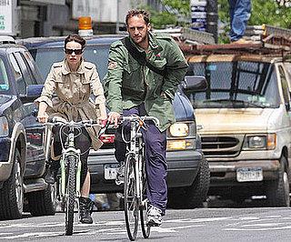 Photo of Rachel McAdams and Josh Lucas Riding Bikes in NYC