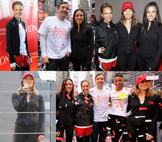 Photos of Jennifer Connelly, Jessica Alba, Jessica Biel, Jimmy Fallon at the 12th Annual EIF Revlon Run/Walk For Women in NYC