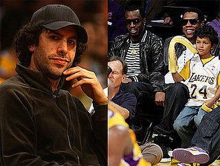 Photos of Sacha Baron Cohen, Diddy, Jay-Z at Lakers Game