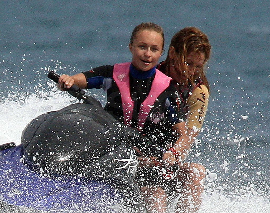 Hayden Takes to the Water