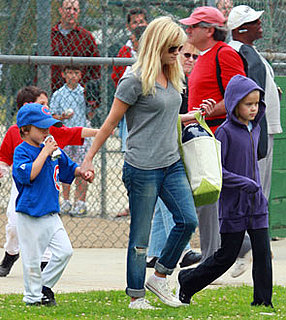 Photos of Reese Witherspoon, Deacon and Ava Phillippe at Baseball Game in LA