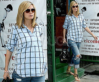 Photos of Pregnant Heidi Klum Picking Up Henry from Karate