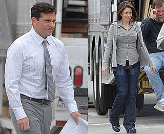 Steve Carell and Tina Fey on the Set of Date Night