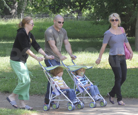 Photo Slide of Britney Spears With Her Sons in London