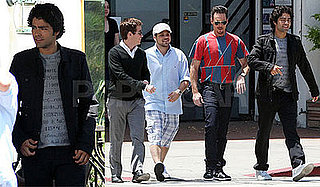 Photos of Kevin Connelly, Jerry Ferrara, Kevin Dillon, and Adrian Grenier Filming Entourage in LA