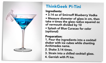 Celebrate Pi Day With Think Geek's Pi-Tini