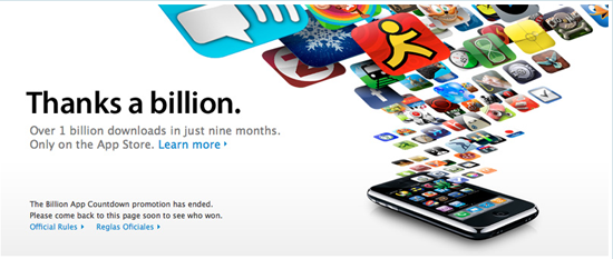 Daily Tech: Apple Reaches Its Billionth App Download Mark