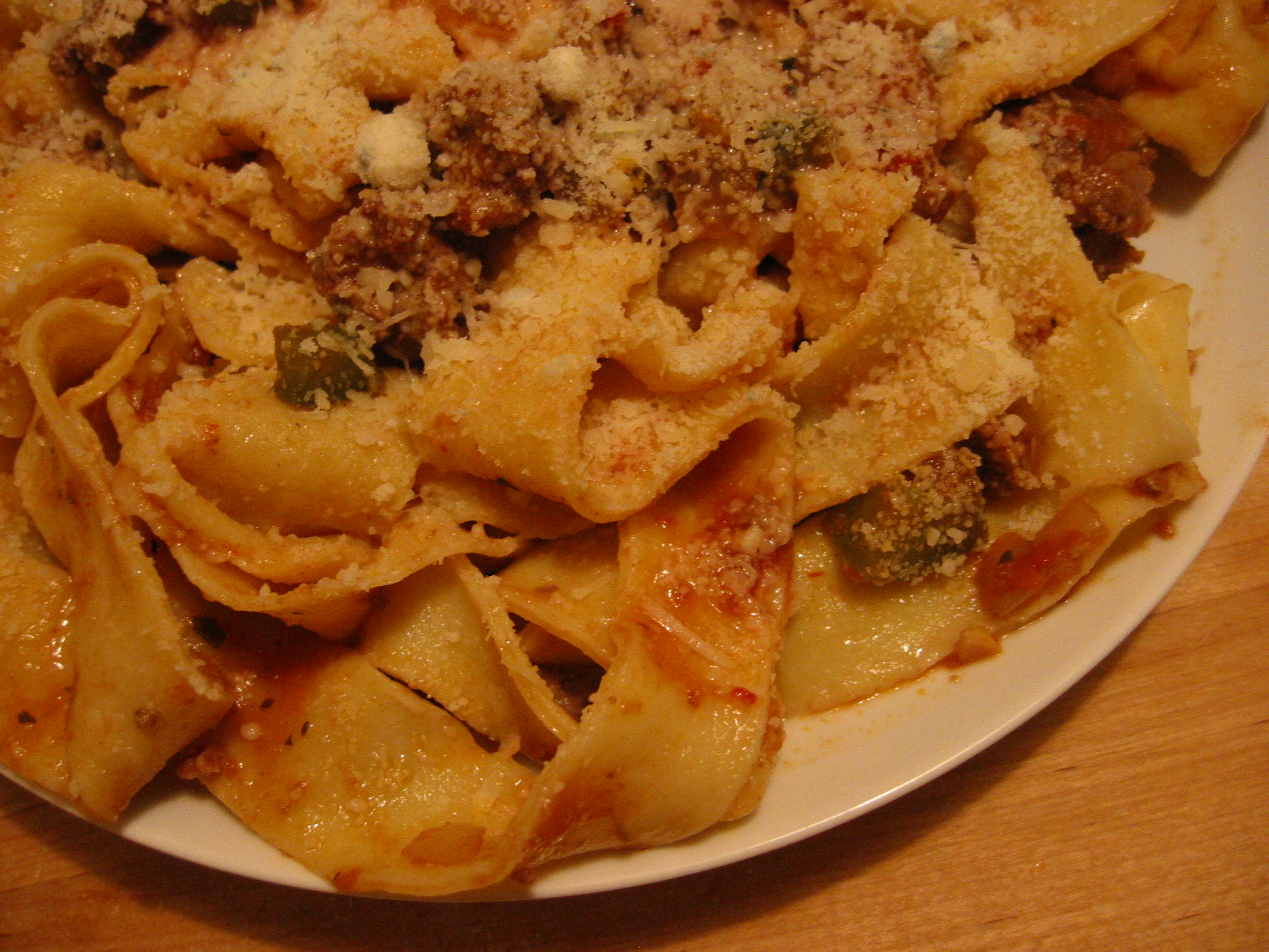 I threw together a quick beef bolognese sauce with ingredients that I had on hand.