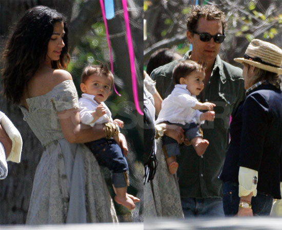 Photos of Matthew McConaughey and Camila Alves Celebrating Easter with Levi in LA