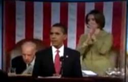 Briefing Book! Pelosi Got a Workout During Obama's Speech