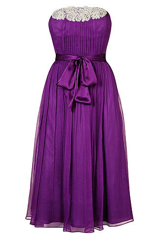 Monsoon Strapless Appliqu� Dress