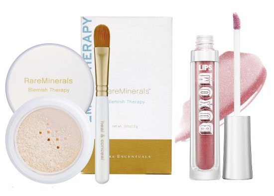 Thursday Giveaway! RareMinerals Blemish Therapy and Bare Escentuals Buxom Lips