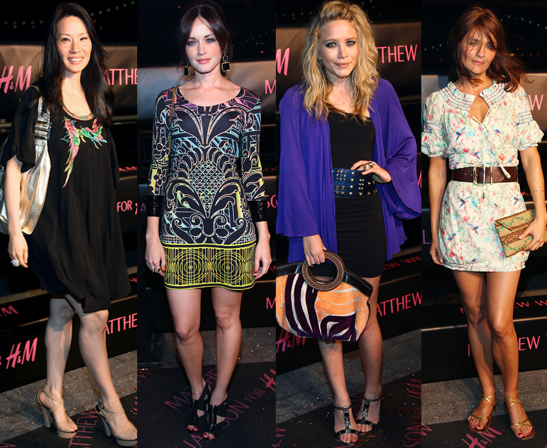 Photos Of Mary-Kate Olsen, Alexis Bledel, Lucy Liu and Helena Christensen at H&M Matthew Williamson Launch In New York