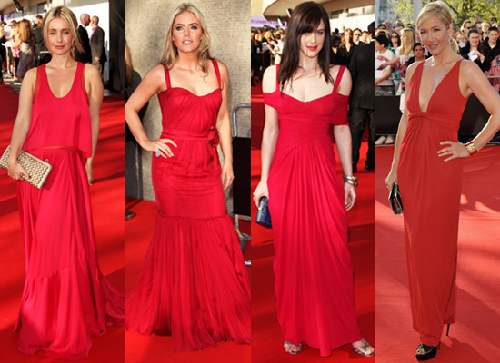 Photos of Red Dresses at 2009 BAFTA TV Awards