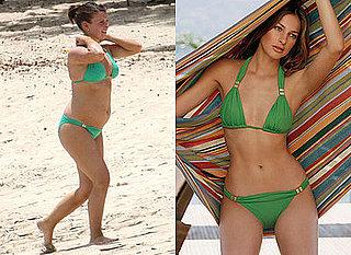 Photo of Coleen Rooney on Beach Green Bikini
