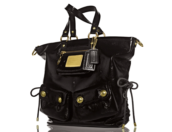 Coach Large Patent Shoulder Bag ($368)  Smooth patent leather Side cinch details