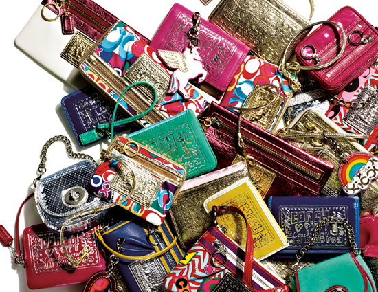 Where the little things matter most: Coach wallets, wristlets and more!
