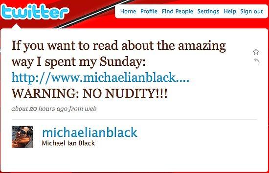 Tweet Nothings: Comedian Michael Ian Black Issues a Warning