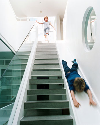 Cool Idea: A Slide by the Staircase